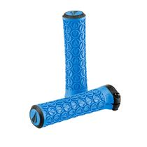 SDG Slater JR Lock-On Grips Cyan