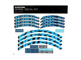 Easton Arc/Heist Wheel Decal Kit Cyan