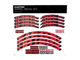 Easton Arc/Heist Wheel Decal Kit Red
