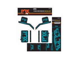 Fox Fork & Shock Decal Kit: AM Heritage Turquoise 2016