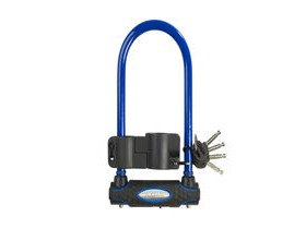 Masterlock 13mm D Lock Gold Sold Secure 210mm X 110mm - Blue + Carrier Bracket