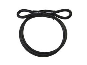 Masterlock Looped End Cable Vinyl Coated Black 3m X 10mm