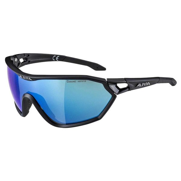 Alpina S-Way L CM+ Glasses Black Mirror Blue Lens click to zoom image