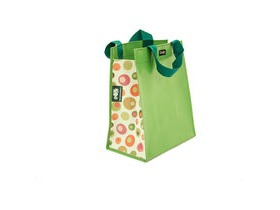 Clarijs Single inner sleeve shopping bag to fit Clarijs pannier, green balls pattern