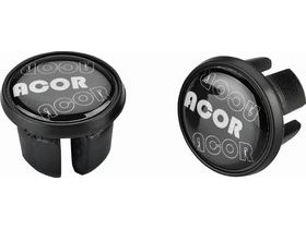 Acor Road Handlebar End Plugs with Reflective Logo