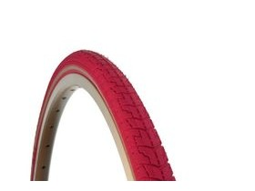 Dutch Perfect SRI 27 700c Reflex Tyre: Pink 38mm
