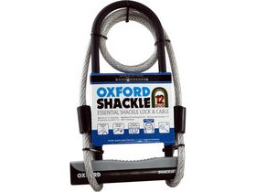 Oxford Shackle 12 Duo Lock & Cable 180 x 320cm Shackle, 12 x 1200mm Lock-mate Cable