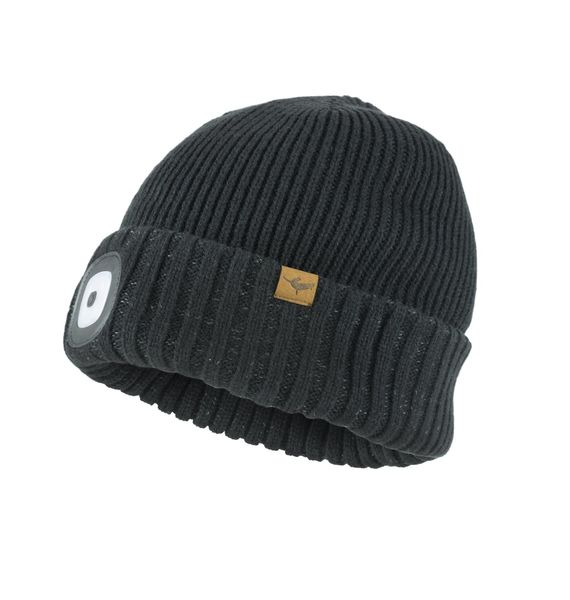 Sealskinz Waterproof Cold Weather LED Roll Cuff Beanie click to zoom image