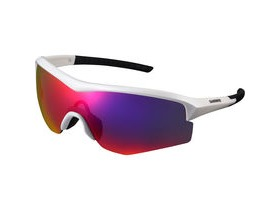 Shimano Spark Glasses - Metalic White - Smoke Red Lense