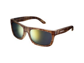 Shimano Tokyo Glasses - Brown Tortoise - Smoke Orange Mirror Lense