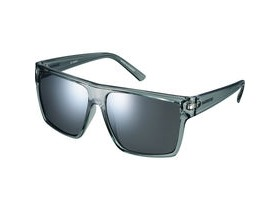 Shimano Square Glasses - Transparent Grey - Smoke Silver Mirror