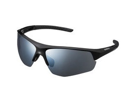 Shimano Twinspark Glasses, Black, Smoke Silver Mirror Lens