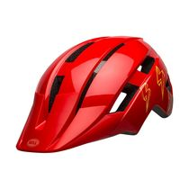 Bell Sidetrack II Youth Helmet Bolts Gloss Red Unisize 50-57cm