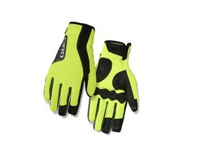 Giro Ambient 2.0 Water Resistant Insulated Windbloc Cycling Gloves Highlight Yellow/Black