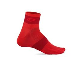 Giro Comp Racer Cycling Socks 3 Pack Bright Red/Blue/Charcoal