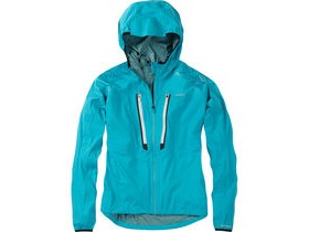 Madison Flux super light women's waterproof softshell jacket, caribbean blue