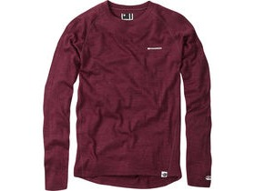 Madison Isoler Merino men's long sleeve baselayer, classy burgundy