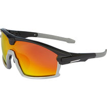 Madison Code Breaker glasses - matt black / gloss cloud grey frame, fire mirror lens