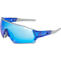 Madison Stealth glasses - gloss crystal blue frame, blue mirror lens