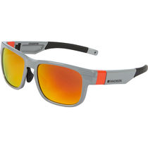 Madison Crossfire glasses 3 pack - gloss grey frame, fire mirror/smoke/clear lens
