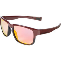 Madison Range glasses - gloss burgundy over matt black frame, pink orange mirror lens