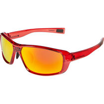 Madison Target glasses - gloss crystal red frame, fire mirror lens