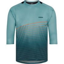 Madison Flux Enduro men's 3/4 sleeve jersey, nile blue / maritime blue / coral